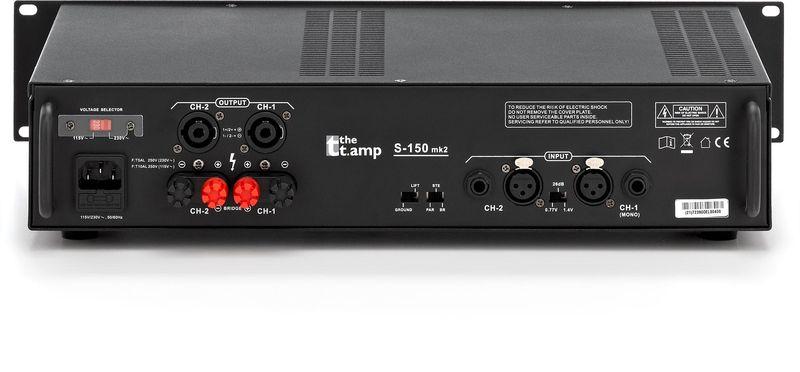 トーマン社 the t.amp S-150 MK2 パワーアンプ 両端非メッキ昇圧トランス付き