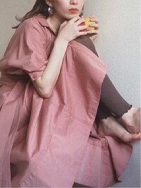 [Rakuten Fashion]【SALE/60%OFF】シャツディテールOP SNIDEL スナイデル ワンピース シャツワンピース ベージュ ピンク【RBA_E】【送料無料】