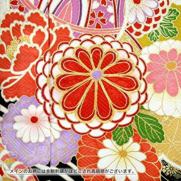 仕立付き 総絞り正絹振袖 f-432 袴プレゼント!グリーン 緑 金通し生地 刺繍入り 成人式 新品購入 古典柄 販売