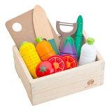 【送料無料(北海道沖縄離島は配送不可)】ウッディプッディ はじめてのおままごと サラダセット木箱入り 519043木製玩具おもちゃ