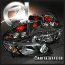 ホンダ シビック テールライト Fit Honda 06-11 Civic 4dr JDM Crystal Black Headlights+Tail Lamps ホンダ06-11シビック4DR JDMクリスタルブラックヘッドライト+テールランプを取り付け