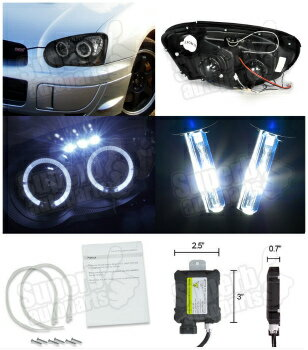 Fits Subaru Impreza GR Blue 4-LED Xenon Bright Side Light Beam Bulbs Pair