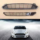 フォード グリル Chrome Front Bumper Upper and lower Radia...