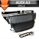 Audi A3 RS Style グリル Fit 08-11 Audi A3 RS Style Front ...
