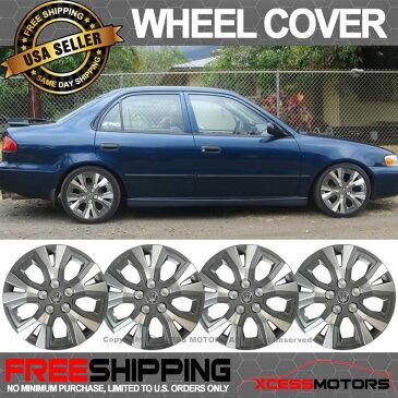USパーツ フィット日産14インチハブキャップHubcapホイールカバータイヤスキンカバー4PC Fit Nissan 14 Inch Hub Caps Hubcap Wheel Cover Tire Skin Covers 4PC