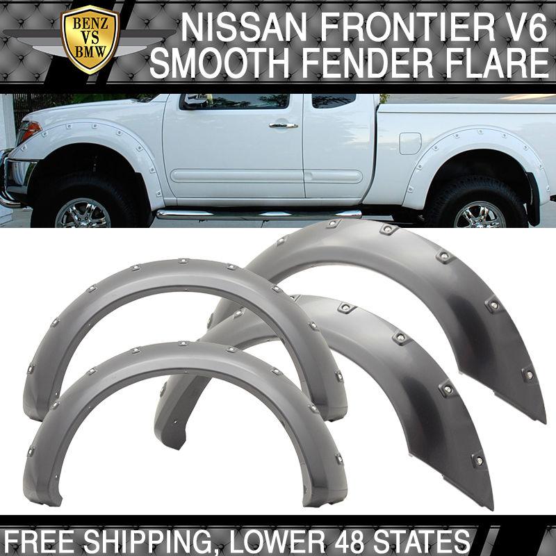 外装・エアロパーツ, その他 US 4PCS05-12V6 4PCS Smooth Boss Pocket Rivet Fender Flare Fit 05-12 Nissan Frontier V6 Long Bed