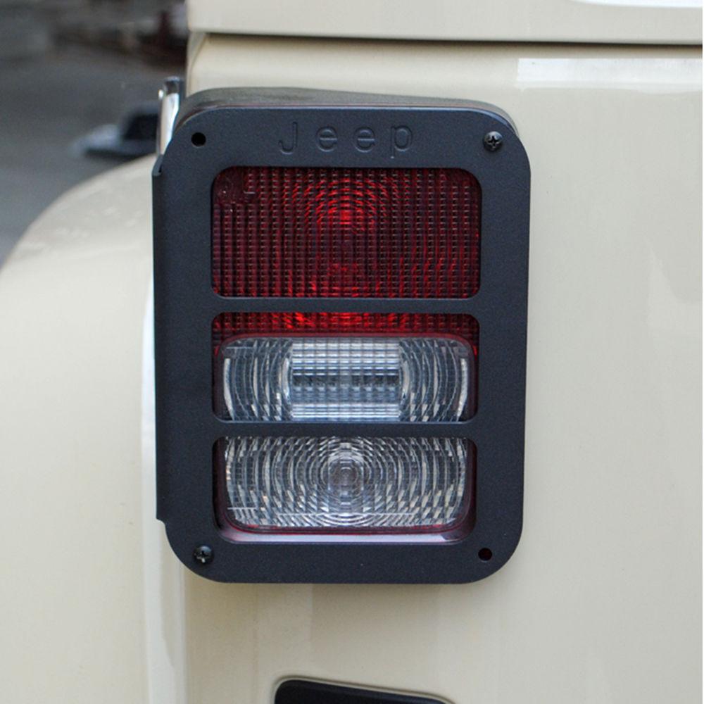 Jeep Wranger JK 07-16 BLACK TAIL LIGHT GUARD protectors