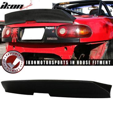 USスポイラー 90-97 Mazda Miata IKONスタイルハイキックダックビルトランクスポイラーリッドプライマーブラック 90-97 Mazda Miata IKON Style High Kick Duckbill Trunk Spoiler Lid Primer Black