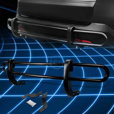 グリル 現代サンタフェのブラックコーティングされたダブルパイプバーリアバンパーガード Black Coated Double Pipe Bar Rear Bumper Guard for 2013-2016 Hyundai Santa Fe