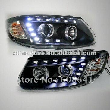 USヘッドライト[右ハンドル・日本仕様]ヒュンダイ サンタフェLEDヘッドランプ For 2006-2010For 2006- For 2006-2010 Hyundai Santa Fe LED Head Lamp