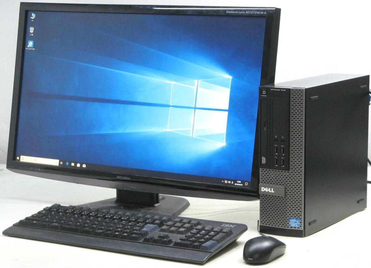 パソコン, デスクトップPC  DELL Optiplex 7010-3570SF 27 Windows10 Corei5 4GB PC