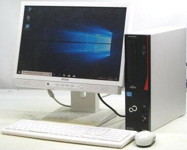 中古 デスクトップ パソコン 富士通 ESPRIMO D551/GX FMVD05010P 19インチ 19型 液晶セット W ワイド モニター Windows10 Corei3 メモリ4GB DVDスーパーマルチ 【中古】