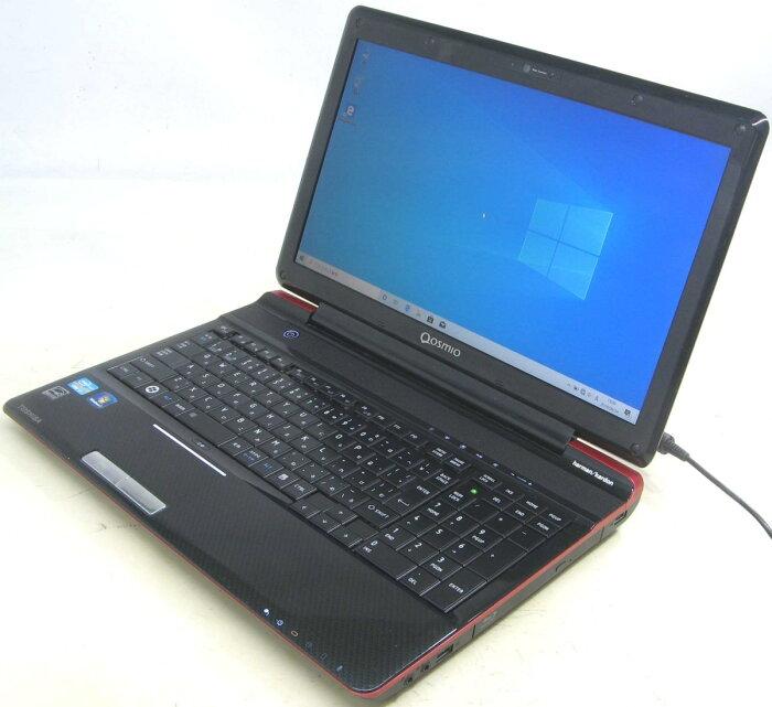 中古ノートパソコン 東芝 Qosmio T751/T8DR PT751T8DBFR Windows10 Corei7 メモリ8GB SSD128GB 15.6インチ HDMI 無線 Webカメラ ブルーレイ 中古パソコン 中古PC