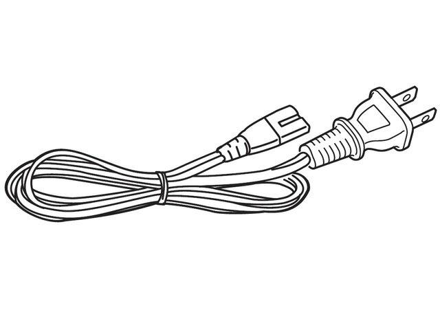 ☆パナソニック(Panasonic)☆ ホームシアターシステム サウンドセット用 アクティブサブウーハー用電源コード部品コード:SFQ0020 純正部品 消耗品