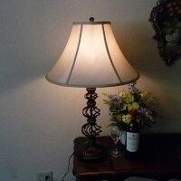 ランプライトテーブルランプテーブルスタンドライトアンティーク調LEDインテリア照明シェードおしゃれクラシックモダンレトロリビング860CALlighting