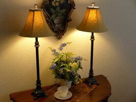 テーブルランプテーブルライト黒ブラックバフェランプランプライトテーブルアンティークアンティーク調おしゃれベッドサイドベッド高級寝室リビングクラシックテイストモダンLEDシェードシェードランプスタンドライト照明バフェサイドボード254BF