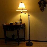 ランプライトフロアランプフロアスタンドライトアンティーク調LEDインテリア照明照明器具間接照明シェードスウィングおしゃれクラシックリビングデスクベッド寝室勉強部屋子供部屋読書フロアランプ581SWFL
