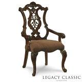 ダイニングチェア 肘付き 椅子 イス チェアー 猫脚 猫足 チェア ダイニング アンティーク アンティーク調 クラシック テイスト アメリカン 木製 ブラウン 茶 高級 エレガント おしゃれ ブラウン 茶 ダイニングセット に 食卓用 いす アームチェア Legacy 3100 Pemberleigh