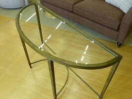 コンソールテーブルガラステーブル半円ソファテーブルガラステーブルゴールドガラステーブルおしゃれリビングガラス天板アンティークアンティーク調高級クラシックテイストエレガントアウトレットアメリカンランプテーブルT2114-75CopiaMAGNUSSEN