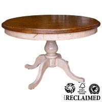 フレンチカントリー家具丸ダイニングテーブルCD013ツートンカラー