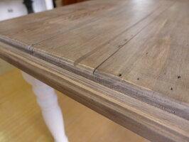 輸入フレンチカントリーパイン材ダイニングテーブルCD025アッシュ&ホワイト