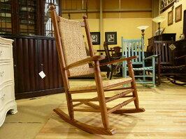 ロッキングチェア【処分品】椅子チェアアンティーク調ログハウスロッジリラックスチェアリラックスチェアーロッキングリビングケネディロッカーヴィレッジオークP&PChairCompany