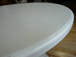 サイドテーブル丸テーブル丸高級白ホワイト木製コンソールテーブルアンティークアンティーク調クラシックテイストエレガントおしゃれ可愛い円型丸型サイドテーブルアメリカンミニテーブルナイトテーブルデザイナー家具PAULADEENポーラディーン