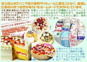 フルーツアイスケーキ7号バースデー誕生日記念日パーティーひんやりギフトプレゼントアイスクリームケーキ大人大きいケーキ