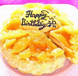 りんごアイスケーキ4号 送料込み 紅玉りんごケーキ バースデー 誕生日 記念日 ギフトケーキ プレゼントケーキ 贈り物 おいしい スイーツギフト スイーツプレゼント メッセージ オリジナル 小さいサイズ