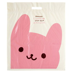 ギフトバッグ・PE袋(ウサクマ・ショッパーお買い物バック)LLサイズ