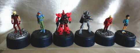 【セール】【コレクター必見】GUNDAM ガンダム ★鉛筆削り付きフィギュア4種ロボット2種の6体セット(G119)
