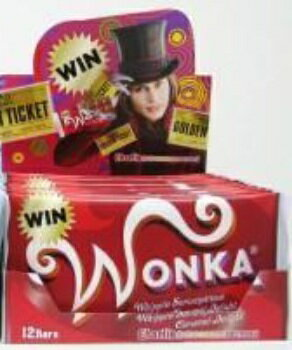 即納【今年のゴールデンチケットは?】WONKA(ウオンカ)★メール便¥120で全国へ★ネスレ チャーリーとチョコレート工場 ウォンカ チョコバー単品・1枚売り
