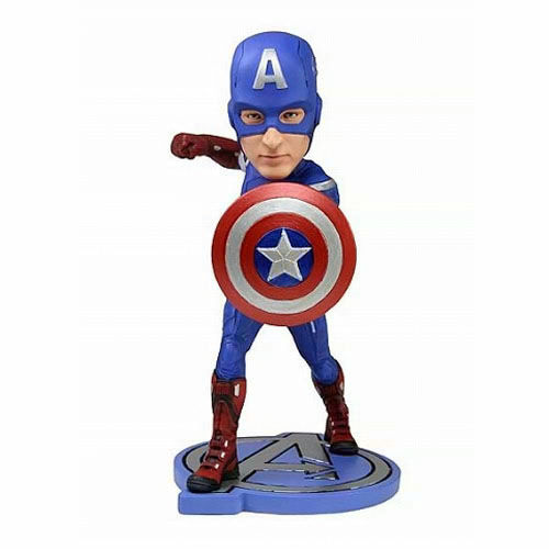 US Edition ★ NECA Avengers Captain America head knocker