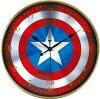 7月新発売の予約★MARVEL(マーベル)★キャプテンアメリカシールド柄ウォールクロック・壁掛け時計