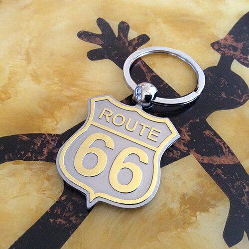 【アクセサリー】【メタルキーチェーン】【ルート66 】【ROUTE66】【ワンポイント】