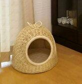 【抗菌】【防臭】【消臭】効果のある竹で作られた猫ちぐら 猫ハウス マット付【送料無料】