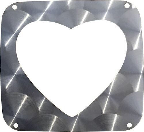 FK用ステンハート型テールレンズカバー(鏡面・ウロコ)(KOITOタイプ)画像