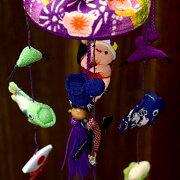 【京都のつるし飾りちりめん5本3個つるし卓上タイプ】つるし雛,誕生日,端午の節句,鯉のぼり,こいのぼり,かぶと,兜,ちまき,かしわもち,柏餅,チマキ,鯉の滝登り,竜,龍,ドラゴン,子供の日,七五三,新春,お正月,お祝い,和雑貨,インテリア,プレゼント,ギフト,紫,パープル