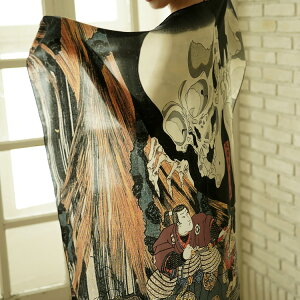 シルクスカーフシルク100%大判スカーフsilkscarf浮世絵スカーフ歌川国芳「相馬の古内」絹utagawakuniyoshi