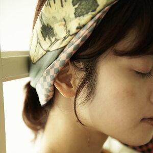 シルクスカーフシルク100%大判スカーフsilkscarf浮世絵スカーフ歌川国芳「野晒悟助」絹utagawakuniyoshi