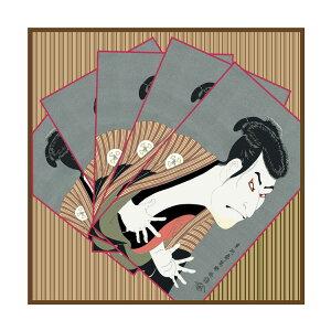 シルクスカーフシルク100%大判スカーフsilkscarf浮世絵スカーフ東洲斎写楽「三代目大谷鬼」絹toushusaisyaraku