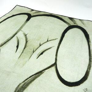 シルクスカーフシルク100%silk浮世絵スカーフ伊藤若沖「象」絹
