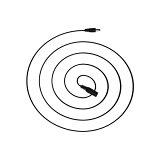 DC延長ケーブル 3m 口径 外径5.5mm 内径2.1mm(メス) → 外径5.5mm 内径2.1mm(オス) 電源供給 自作 DIY 工作 ACアダプタ プラグ 変換 コネクタ