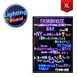 看板 光る看板 店舗用 LED看板 700mm×500mm XLサイズ ブラックボード 光る LED 手書き ライティングボード メッセージボード 手書き看板