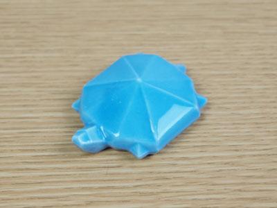 カメの箸置・ブルー