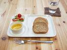 【白い食器】サークルランチプレート【仕切皿】【陶器】