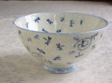 トンボ茶碗(紺・大平)