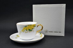 大倉陶園モーニング碗皿 (ミモザ)