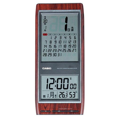 カシオ 電子日めくり六曜マンスリー電波時計【掛け時計 掛時計 見やすい CASIO カレンダー IDC-35...