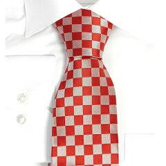 KRAVATA ZAGREB クロアチア製ネクタイ(シャホヴニツァ) 【シルク100% 赤】【送料無料】